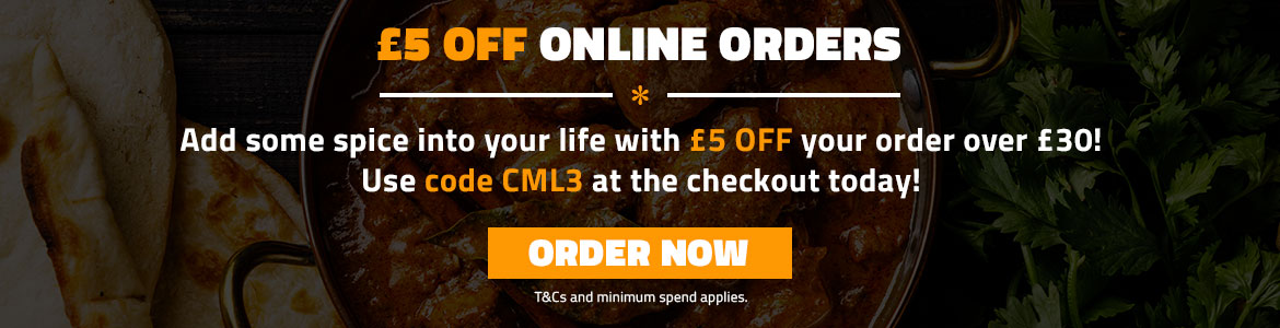 £5 off orders over £30 - Curry Mahal